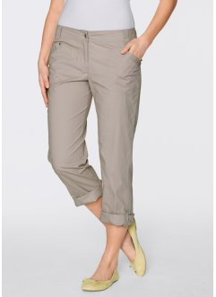 Pantalon extensible cargo 3/4, bpc bonprix collection, pierre naturelle