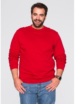 Sweat-shirt Regular Fit, bpc bonprix collection, rouge