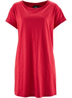 T-shirt long boxy, manches courtes, bpc bonprix collection, rouge
