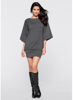 Robe, BODYFLIRT boutique, gris chiné