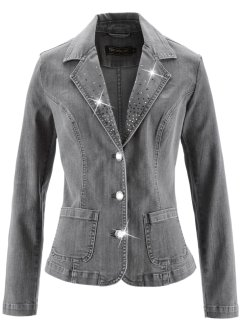 Blazer en jean, bpc selection, gris denim