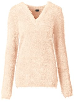 Pull duveteux, BODYFLIRT, rose soft