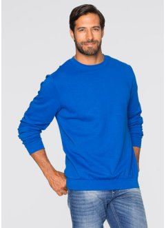 Sweat-shirt Regular Fit, bpc bonprix collection, bleu azur