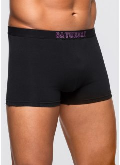 Lot de 7 boxers, bpc bonprix collection, noir