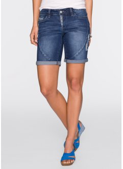 Short en jean, RAINBOW, dark denim