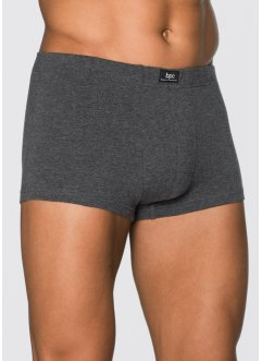 Lot de 3 boxers, bpc bonprix collection, anthracite chiné/bleu foncé