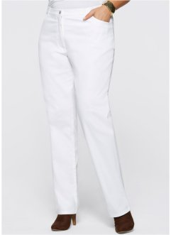 Pantalon extensible, bpc selection, blanc