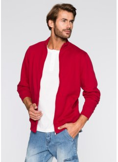 Gilet sweat-shirt Regular Fit, bpc bonprix collection, rouge foncé