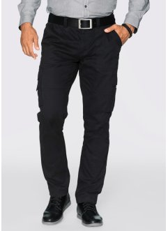 Pantalon cargo Regular Fit Straight, bpc selection, noir