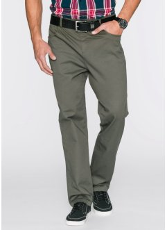 Pantalon extensible Classic Fit Straight, bpc bonprix collection, olive foncé