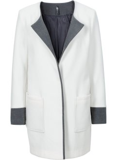 Manteau oversized, RAINBOW, blanc cassé/anthracite chiné