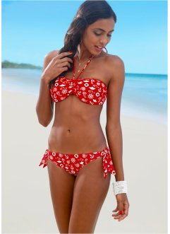 Haut de bikini bandeau, bpc bonprix collection, rouge imprimé