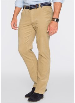 Pantalon velours côtelé Regular Fit Straight, bpc bonprix collection, beige