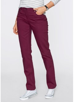 Pantalon extensible en twill structuré, droit, bpc bonprix collection, rouge érable