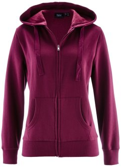 Gilet sweat, bpc bonprix collection, prune