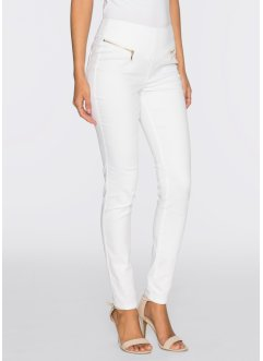 Jean extensible, BODYFLIRT, blanc denim
