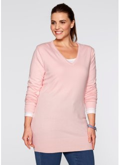 Pull long, bpc bonprix collection, rose dragée
