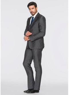Costume 2 pces. Slim Fit, bpc selection, gris rayé