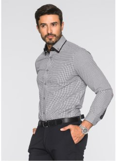 Chemise business Regular Fit, bpc selection, bleu/blanc à carreaux