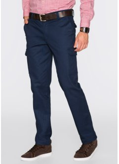 Pantalon cargo thermo Regular Fit Straight, bpc bonprix collection, bleu foncé