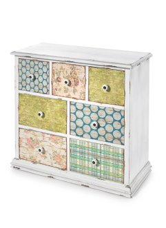Commode Anike, 7 tiroirs, bpc living, multicolore