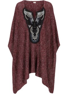 Poncho, BODYFLIRT boutique, rouge chiné