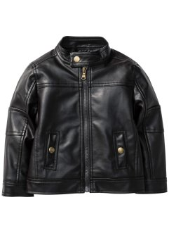 Blouson en synthétique imitation cuir, bpc bonprix collection, marron
