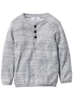 Pull maille fine, bpc bonprix collection, gris clair chiné