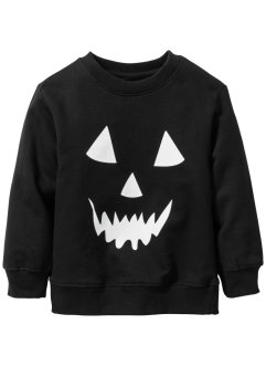 "Sweat-shirt ""brillant dans le noir"" Halloween, bpc bonprix collection, noir imprimé"