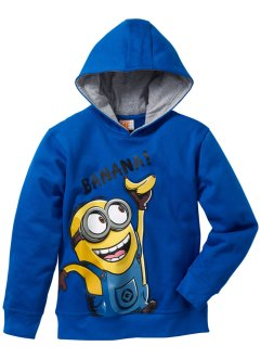Sweat-shirt MINIONS, Despicable Me 2, bleu azur
