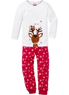 Pyjama (Ens. 2 pces.), bpc bonprix collection, blanc/rouge