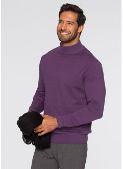 Pull col montant Regular Fit, bpc selection, myrtille
