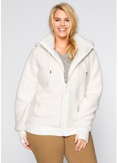 Veste en polaire peluche, bpc bonprix collection, blanc cassé