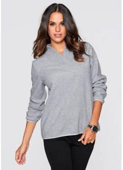 Pull polaire, bpc selection, gris clair chiné