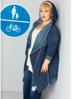 Veste sweat manches longues - designed by Maite Kelly, bpc bonprix collection, bleu foncé