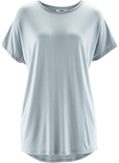 T-shirt court-long, bpc bonprix collection, gris argent
