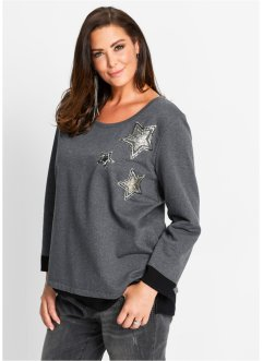 Sweat-shirt, bpc selection, anthracite chiné