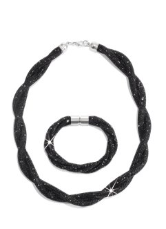 Parure collier + bracelet, bpc bonprix collection, noir