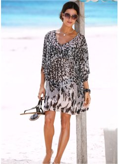 Robe de plage, bpc selection, noir/beige
