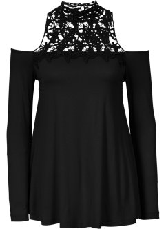Top, BODYFLIRT boutique, noir