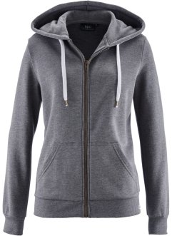 Gilet matière sweat, bpc bonprix collection, gris chiné