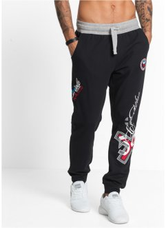 Pantalon-jogging Slim Fit, RAINBOW, noir