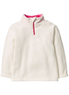 Pull en polaire, bpc bonprix collection, blanc cassé/rose flamant