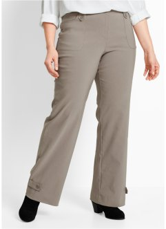 Pantalon droit en bengaline, bpc bonprix collection, taupe