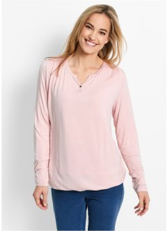 T-shirt manches longues, bpc bonprix collection, rose nacré