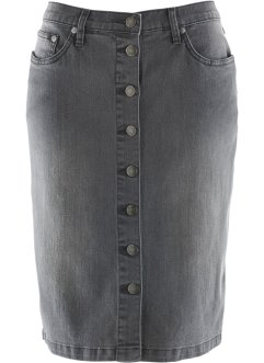 Jupe en jean, bpc selection, gris denim