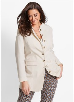 Blazer long, bpc selection, beige galet
