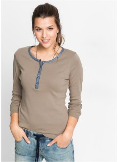 T-shirt manches longues, John Baner JEANSWEAR, taupe