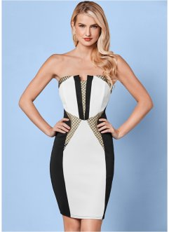Robe, BODYFLIRT boutique, blanc/noir