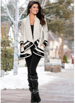 Manteau, BODYFLIRT boutique, blanc/noir